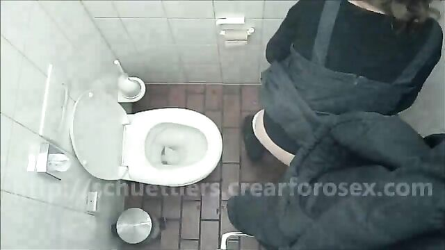 woman pooping accident