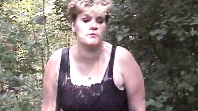 Chubby mature shit outdoor