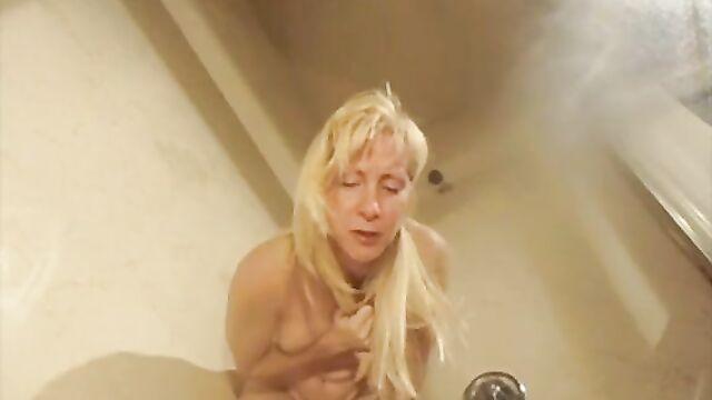 Blonde puking