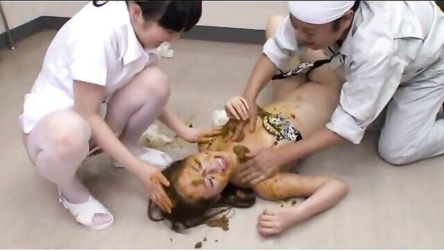 Japanese lesbian scat  234