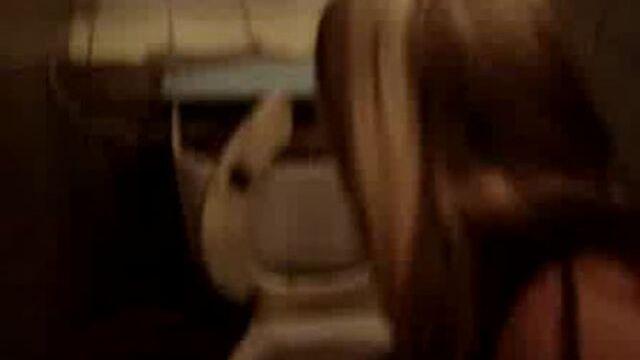 Girls taste poo from the toilet bowl