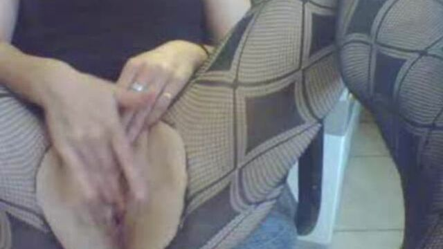 tearing her fishnets - creamy shitty anal