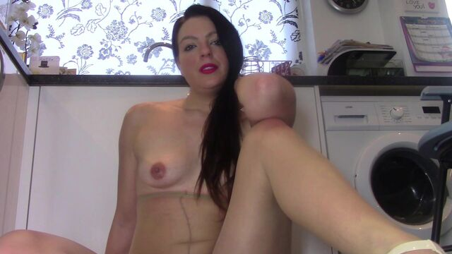 Toilet Slavery Eat from My Pantyhose