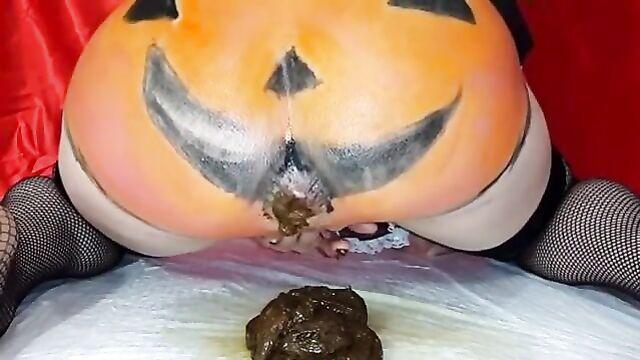 Halloween poop